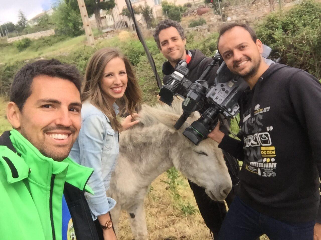 El Capriolo en los medios grabación de reportaje de televisión